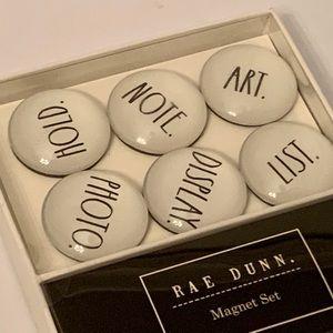 Rae Dunn 6pc Glass Dome Magnet Set